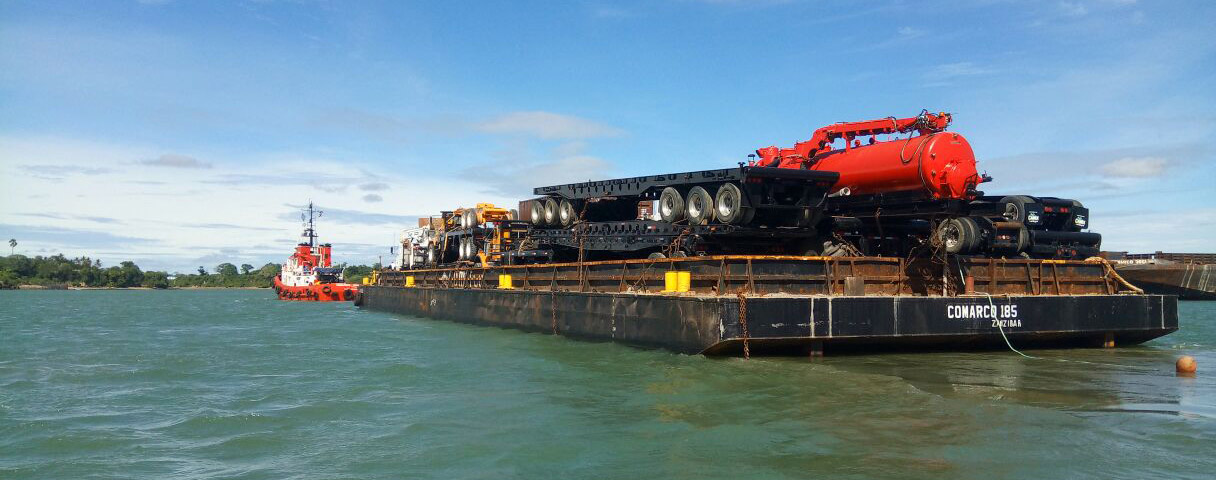 Transporting oil field equipment from Mombasa to Kuwait - Comarco